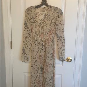 Ladies sheer long sleeve long duster/kimono